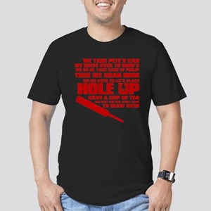 Hole Up Men's Fitted T-Shirt (dark)