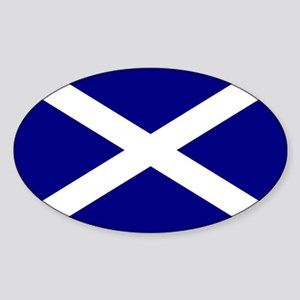 St. Andrew's Cross Oval Sticker
