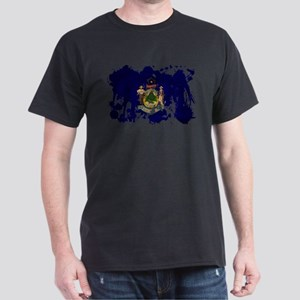 Maine Flag Dark T-Shirt
