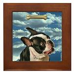 Boston Terrier Framed Tile