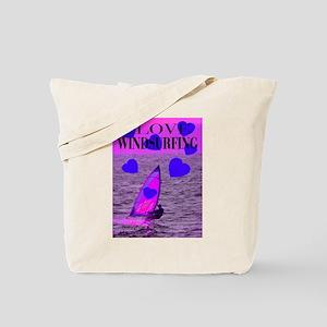 I Love Windsurfing Tote Bag