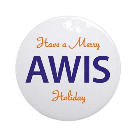 AWIS Ornament (Round)