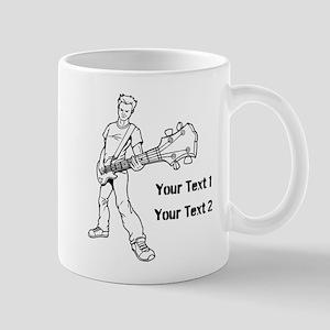 Guitarist with Custom Text. Mug