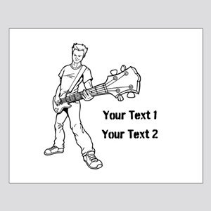 Guitarist with Custom Text. Small Poster