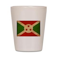 Burundi Flag Shot Glass