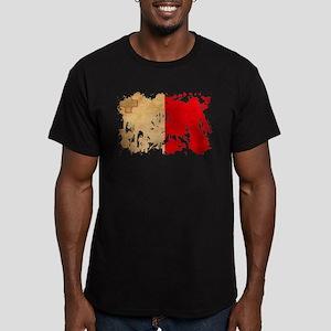 Malta Flag Men's Fitted T-Shirt (dark)