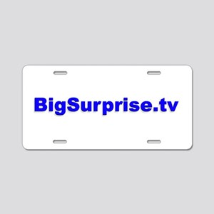 BigSurprise.tv Aluminum License Plate