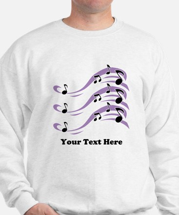 Musical Notes and Text. Sweatshirt