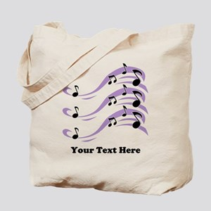 Musical Notes and Text. Tote Bag
