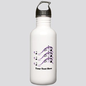 Musical Notes and Text. Stainless Water Bottle 1.0
