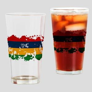 Mauritius Flag Drinking Glass