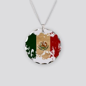 Mexico Flag Necklace Circle Charm