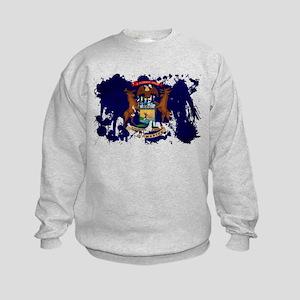 Michigan Flag Kids Sweatshirt