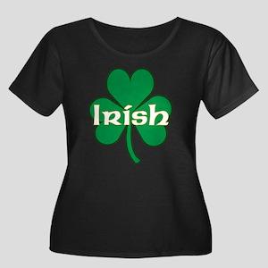 Irish Shamrock Women's Plus Size Scoop Neck Dark T