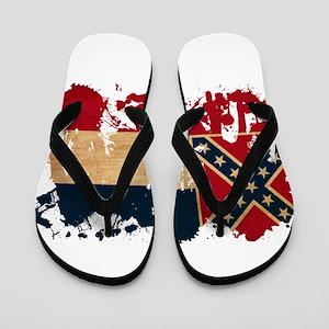 Mississippi Flag Flip Flops