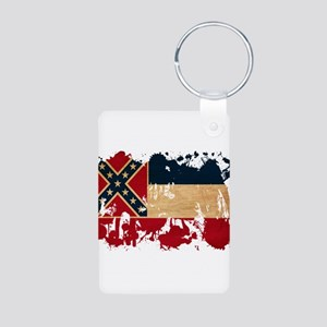 Mississippi Flag Aluminum Photo Keychain