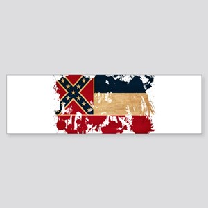 Mississippi Flag Sticker (Bumper)
