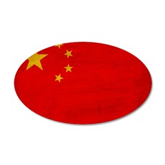 China Flag 22x14 Oval Wall Peel