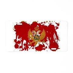 Montenegro Flag Aluminum License Plate