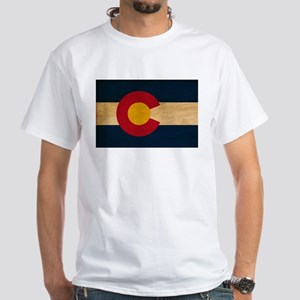 Colorado Flag White T-Shirt