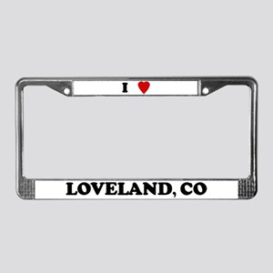 I Love Loveland License Plate Frame