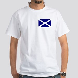 Scottish Flag White T-Shirt