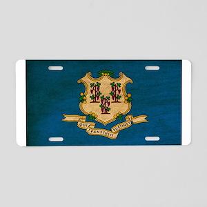Connecticut Flag Aluminum License Plate