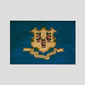 Connecticut Flag Rectangle Magnet
