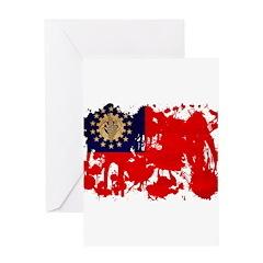 Myanmar Flag Greeting Card
