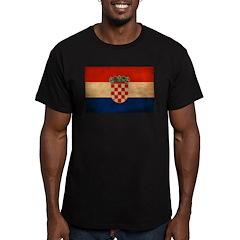 Croatia Flag Men's Fitted T-Shirt (dark)