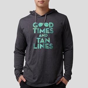 Good Times Tan Lines Print Mens Hooded Shirt