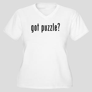 GOT PUZZLE Women's Plus Size V-Neck T-Shirt