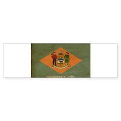 Delaware Flag Sticker (Bumper 50 pk)