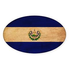 El Salvador Flag Sticker (Oval 10 pk)