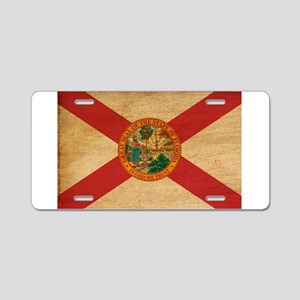 Florida Flag Aluminum License Plate