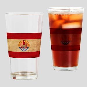 French Polynesia Flag Drinking Glass