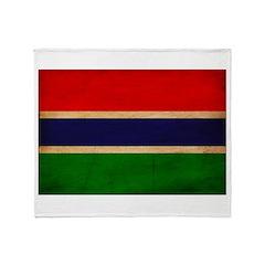 Gambia Flag Throw Blanket