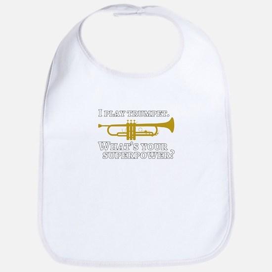 I play trumpet superpower Baby Bib