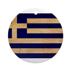 Greece Flag Ornament (Round)
