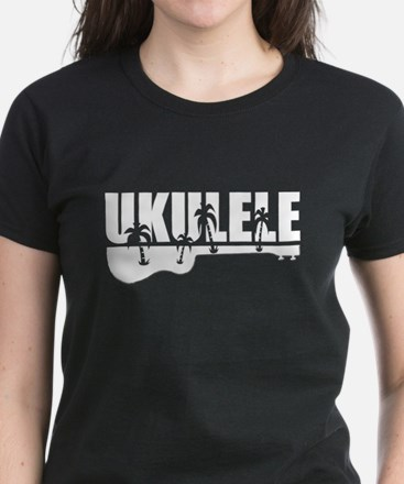 Hawaiian Ukulele Women's Dark T-Shirt