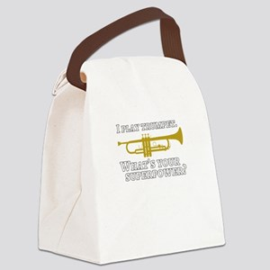 I play trumpet superpower Canvas Lunch Bag