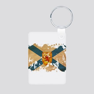 Nova Scotia Flag Aluminum Photo Keychain