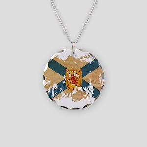 Nova Scotia Flag Necklace Circle Charm