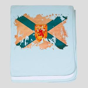 Nova Scotia Flag baby blanket