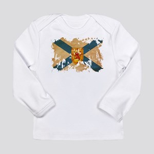 Nova Scotia Flag Long Sleeve Infant T-Shirt
