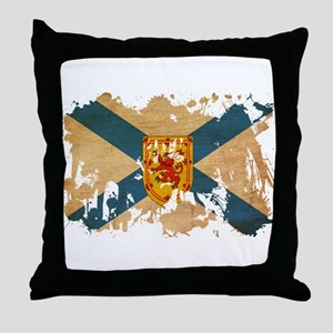 Nova Scotia Flag Throw Pillow