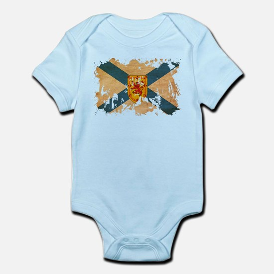 Nova scotia baby clothes cafepress nova scotia flag infant bodysuit negle Images