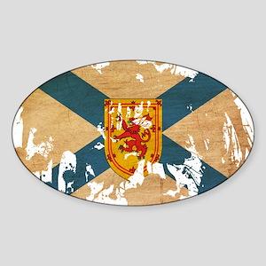 Nova Scotia Flag Sticker (Oval)