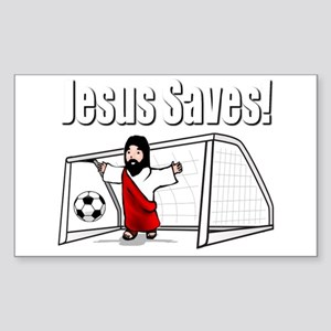 Jesus Saves Sticker (Rectangle)