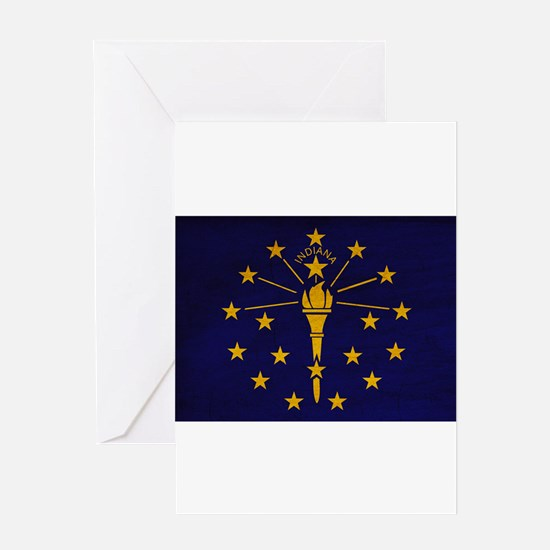Indiana Flag Greeting Card